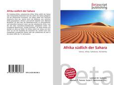 Обложка Afrika südlich der Sahara