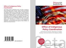 Capa do livro de Office of Indigenous Policy Coordination