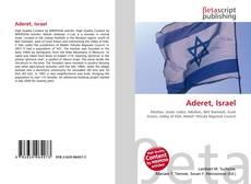 Portada del libro de Aderet, Israel