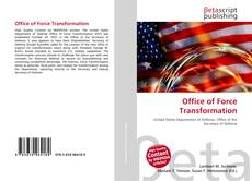 Capa do livro de Office of Force Transformation