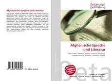 Afghanische Sprache und Literatur kitap kapağı