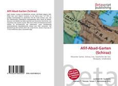 Buchcover von Afif-Abad-Garten (Schiraz)