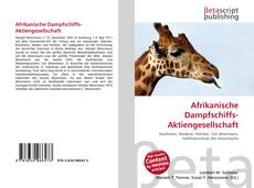 Bookcover of Afrikanische Dampfschiffs-Aktiengesellschaft