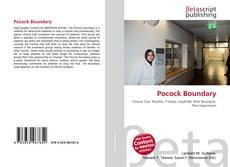 Buchcover von Pocock Boundary