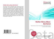 Walter Berry (Bass-Baritone)的封面