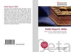 Rabbi Hiyya b. Abba kitap kapağı