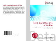 Capa do livro de Saint- Esprit Class Ship of the Line