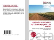 Capa do livro de Afrikanische Partei für die Unabhängigkeit Kap Verdes