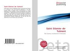 Capa do livro de Saint- Etienne- de- Tulmont