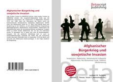 Copertina di Afghanischer Bürgerkrieg und sowjetische Invasion