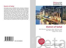 Bookcover of District of Safad