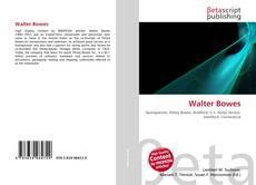 Portada del libro de Walter Bowes
