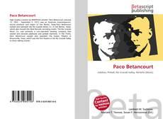 Capa do livro de Paco Betancourt