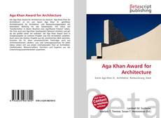 Bookcover of Aga Khan Award for Architecture