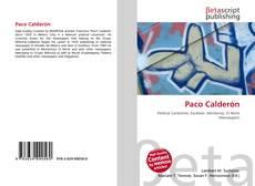 Portada del libro de Paco Calderón