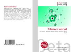 Copertina di Tolerance Interval