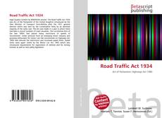 Road Traffic Act 1934 kitap kapağı