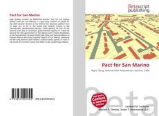 Capa do livro de Pact for San Marino