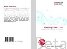 Vente- privee. com kitap kapağı