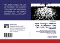 Bookcover of Проблемы реализации прав собственности на природно-ресурсный капитал