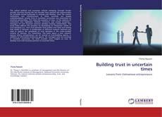 Buchcover von Building trust in uncertain times