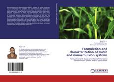 Copertina di Formulation and characterization of micro and nanoemulsion systems