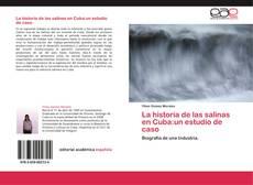 Portada del libro de La historia de las salinas en Cuba:un estudio de caso