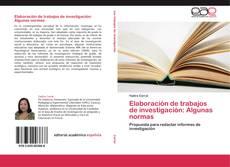 Copertina di Elaboración de trabajos de investigación: Algunas normas