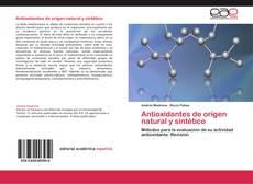 Portada del libro de Antioxidantes de origen natural y sintético