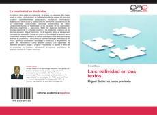 La creatividad en dos textos kitap kapağı
