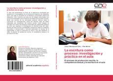 Portada del libro de La escritura como proceso: investigación y práctica en el aula