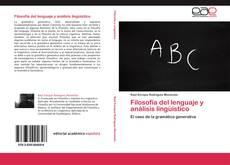 Capa do livro de Filosofía del lenguaje y análisis lingüístico