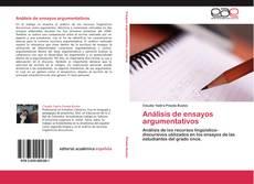 Análisis de ensayos argumentativos kitap kapağı