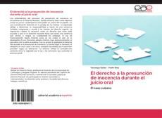 Bookcover of El derecho a la presunción de inocencia durante el juicio oral