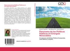 Buchcover von Panorama de las Políticas Públicas en Energías Renovables