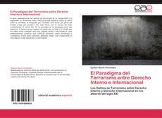 Capa do livro de El Paradigma del Terrorismo entre Derecho Interno e Internacional