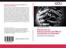 Buchcover von Efectos de las intervenciones del FMI  en la pobreza en Colombia