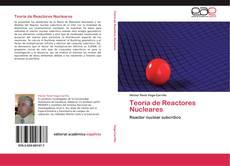 Portada del libro de Teoría de Reactores Nucleares