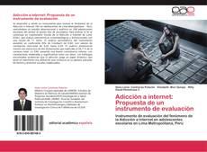 Bookcover of Adicción a internet: Propuesta de un instrumento de evaluación