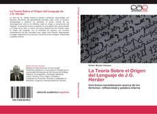La Teoría Sobre el Origen del Lenguaje de J.G. Herder的封面