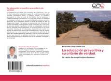 Portada del libro de La educación preventiva y su criterio de verdad.
