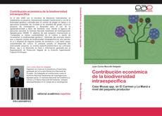 Bookcover of Contribución económica de la biodiversidad intraespecífica
