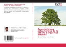 Capa do livro de Características estructurales de la sabana de Quercus oleoides