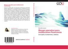 Portada del libro de Riesgo operativo para instituciones financieras