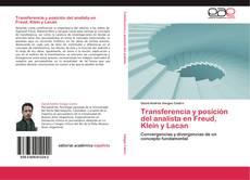 Couverture de Transferencia y posición del analista en Freud, Klein y Lacan