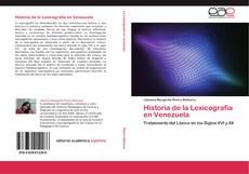 Buchcover von Historia de la Lexicografía en Venezuela