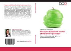 Capa do livro de Responsabilidade Social: princípios e práticas