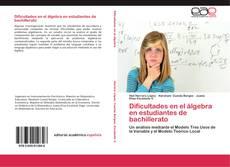 Обложка Dificultades en el álgebra en estudiantes de bachillerato