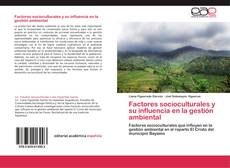 Обложка Factores socioculturales y su influencia en la gestión ambiental