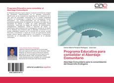 Capa do livro de Programa Educativo para consolidar el Abordaje Comunitario